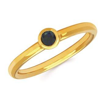 Sapphire Bezel Ring