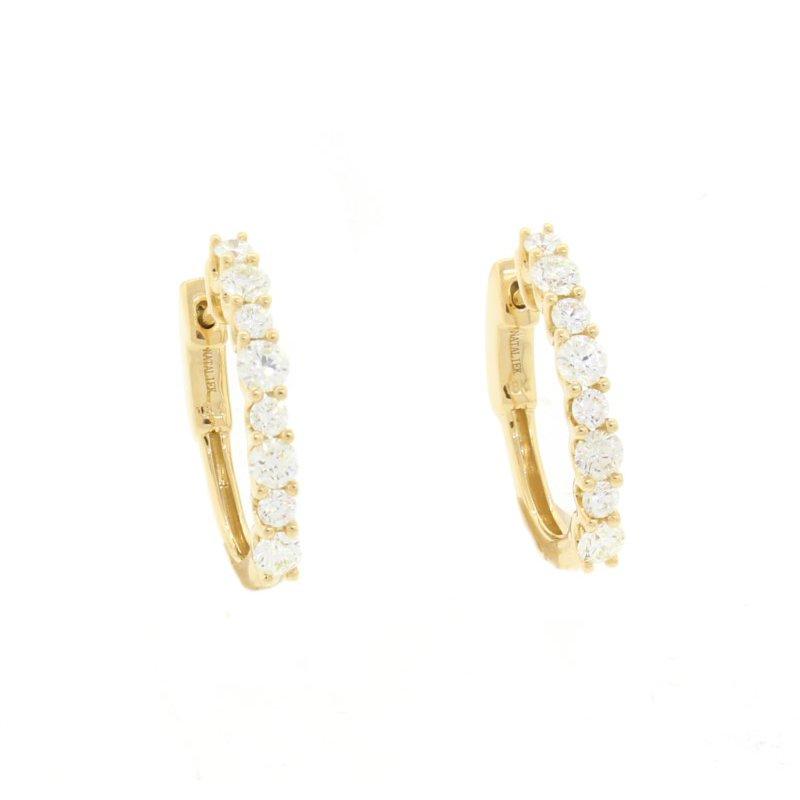 Natalie K (M.K. Diamonds & Jewelry) Diamond Hoop Earrings