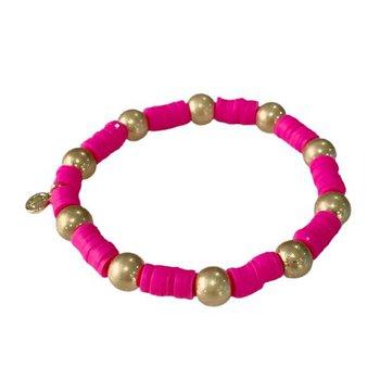 Seaside Gold Ball - Hot Pink