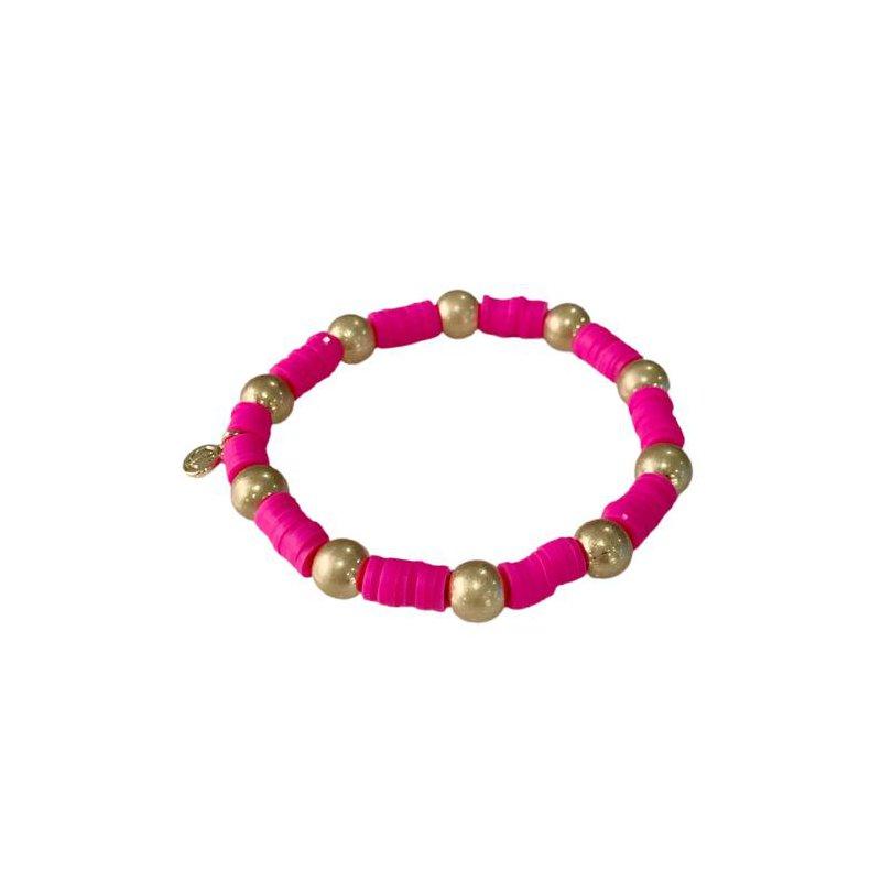 Caryn Lawn Seaside Gold Ball - Hot Pink