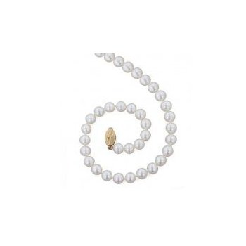 White Freshwater Cultured Pearl Strand (9mm)