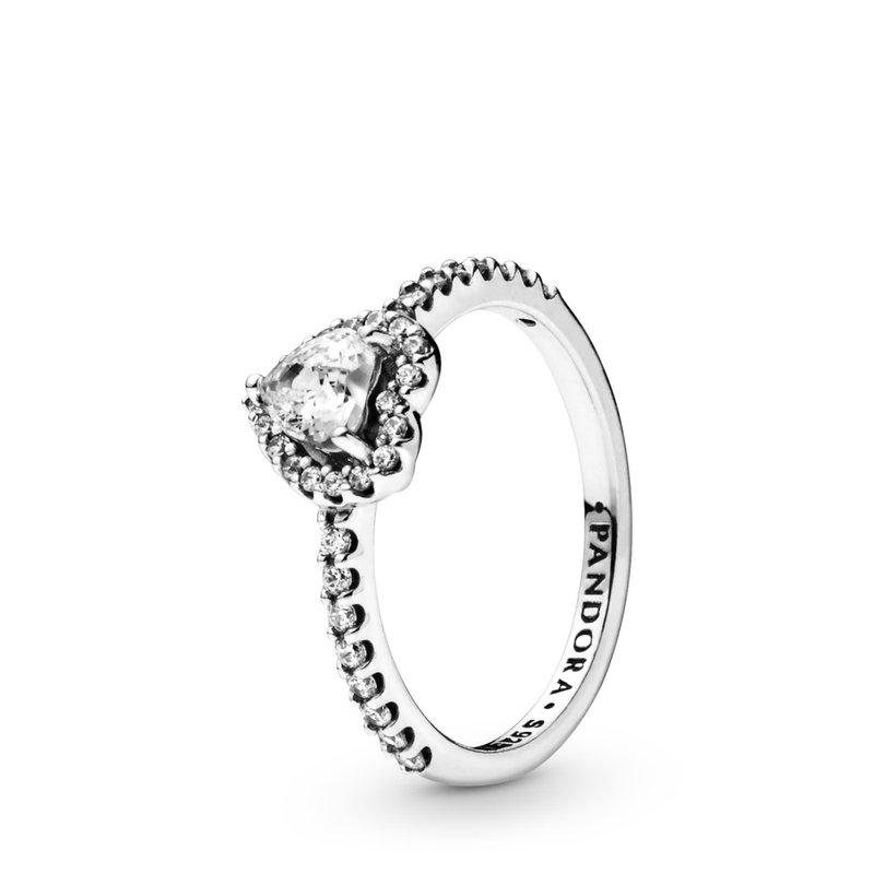 PANDORA Elevated Heart Ring