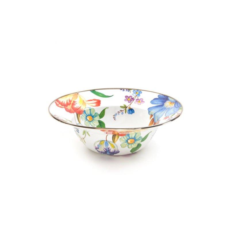 MacKenzie-Childs Flower Market Serving Bowl - White