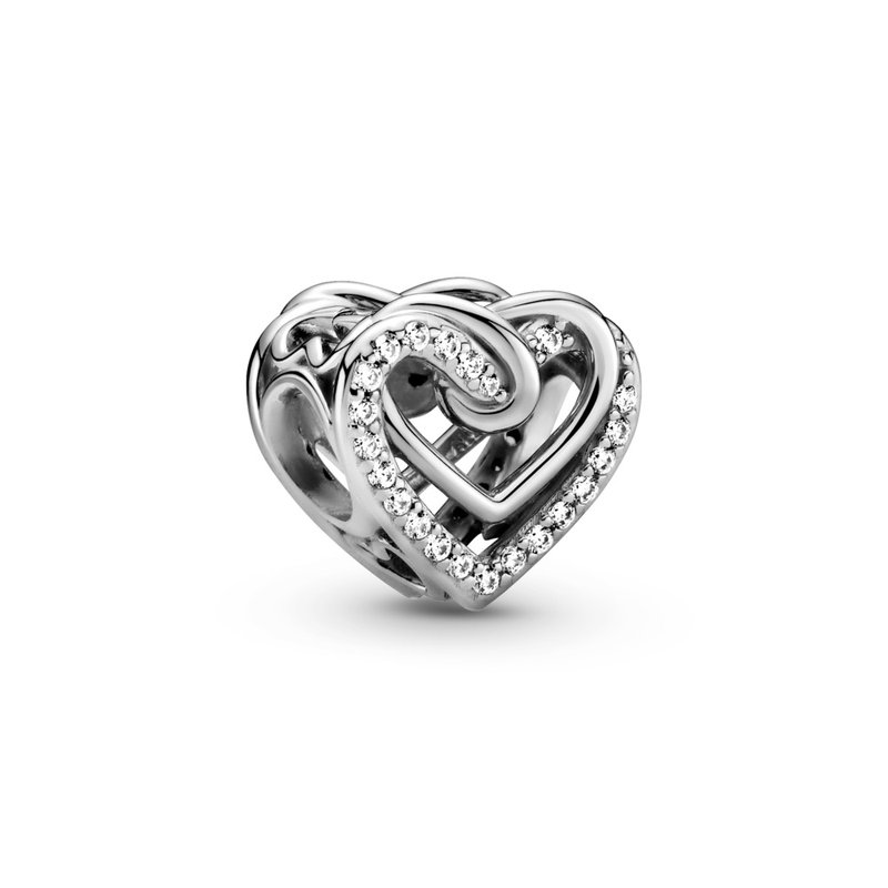 PANDORA Sparkling Entwined Hearts Charm