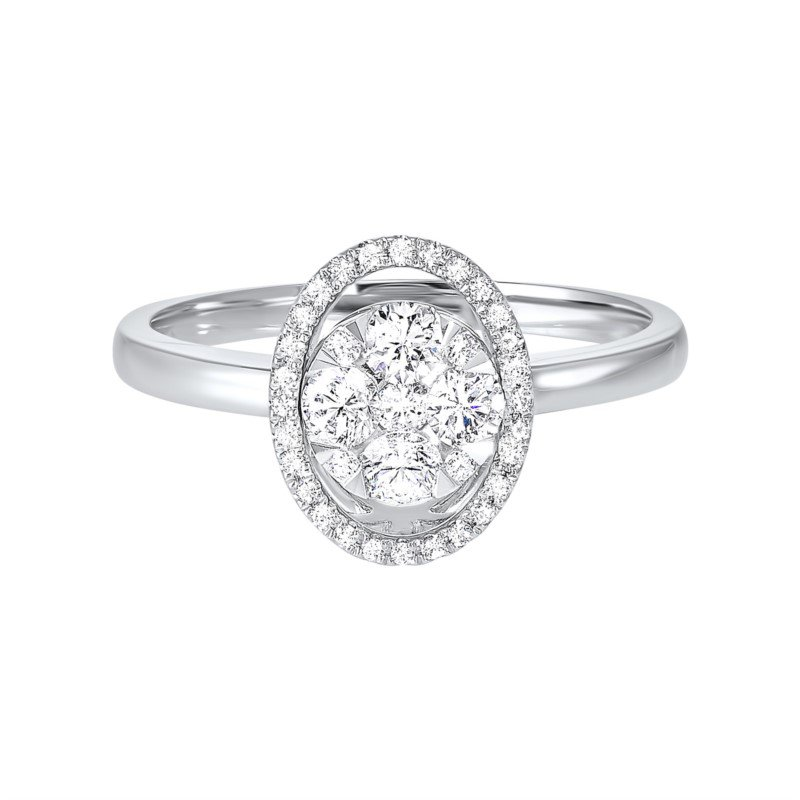 Kelley Collection  Diamond Cluster Ring