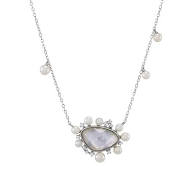 Mother of Pearl Geometric Necklace