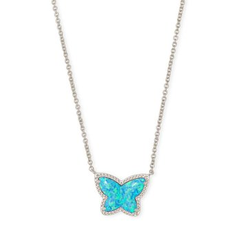Lillia Butterfly Pendant in Turquoise Opal