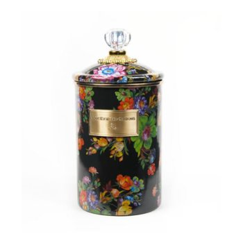 Flower Market Large Canister - Black