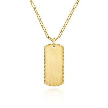 Gold ID Pendant
