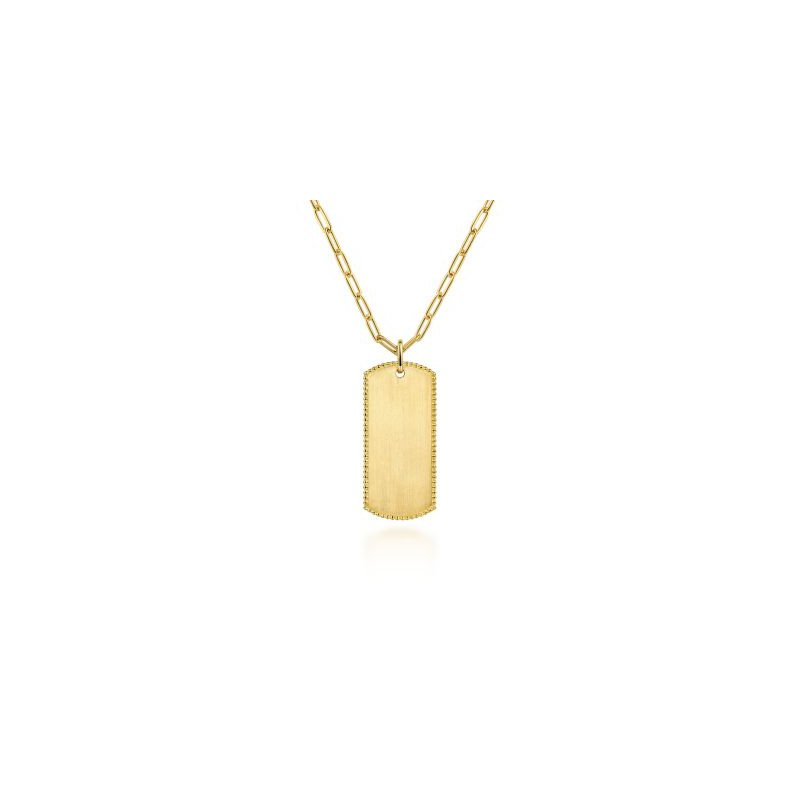 Gabriel NY Fine Jewelry Gold ID Pendant