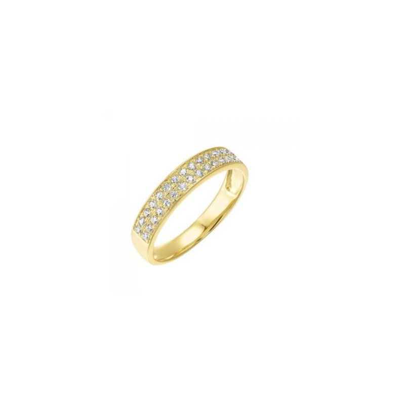 Kelley Collection  Double Row Diamond Ring