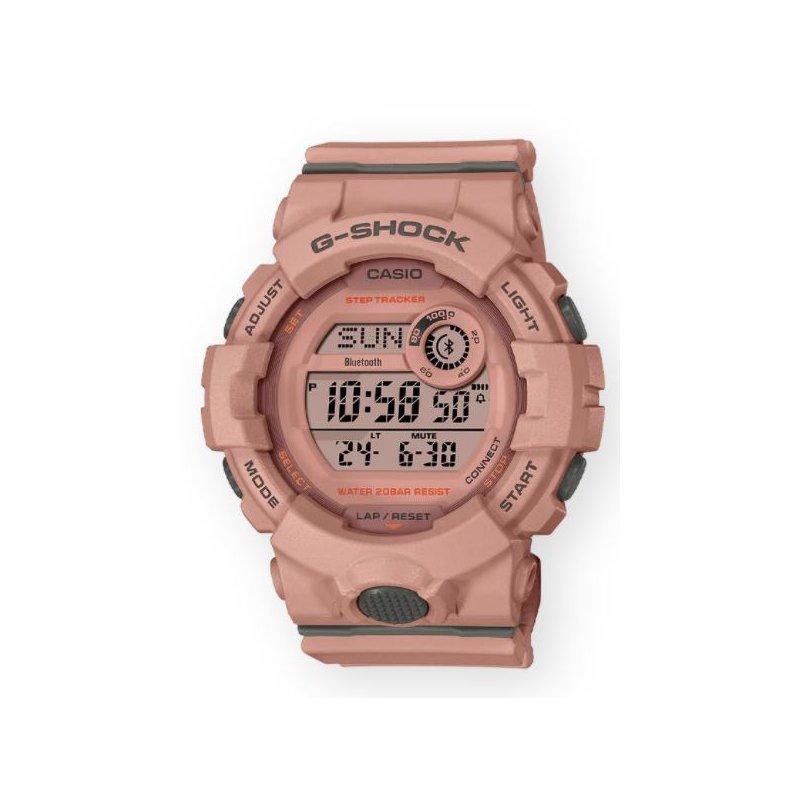 G-Shock Power Trainer Sports Watch in Pink Resin
