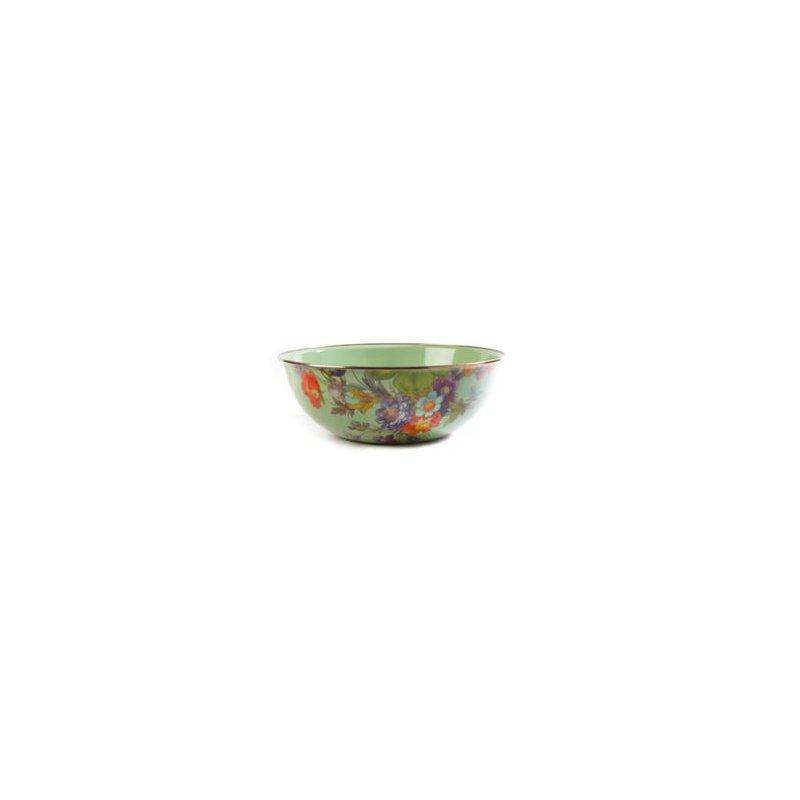 MacKenzie-Childs Flower Market Extra Large Everyday Bowl - Green