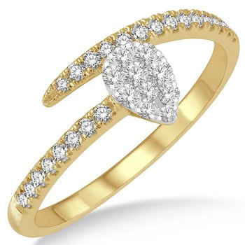 Pear Shape Bypass Ring