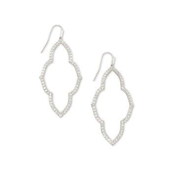 Abbie Open Frame Earring in Silver