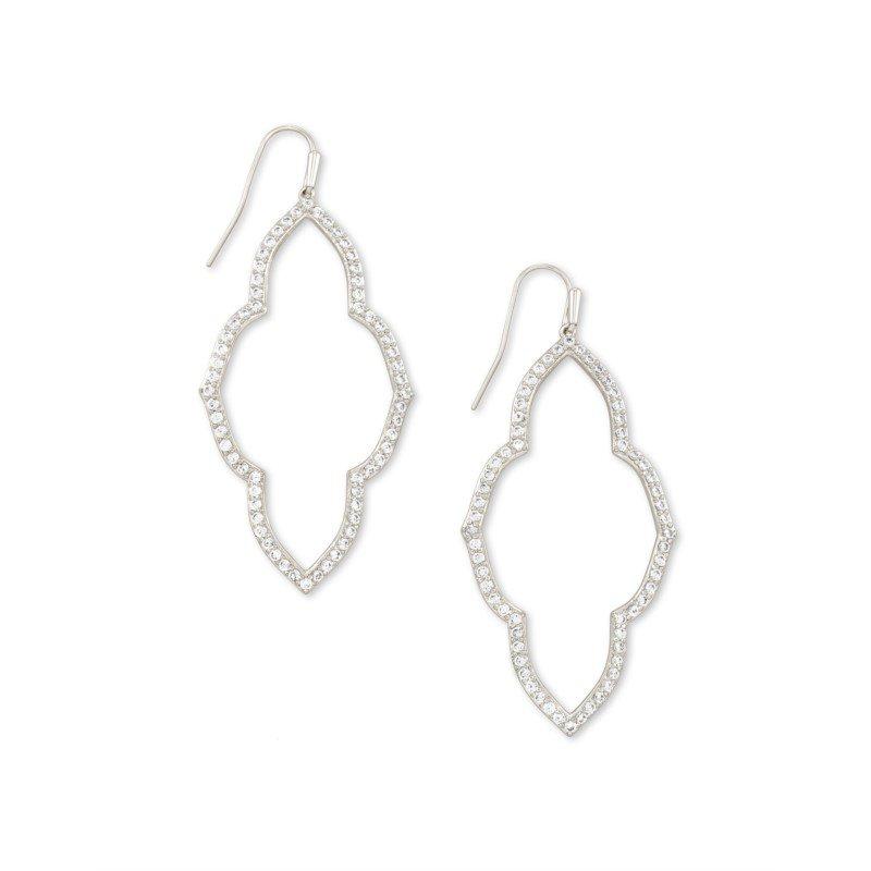 Kendra Scott Abbie Open Frame Earring in Silver