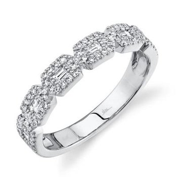 Diamond Halo Baguette Ring