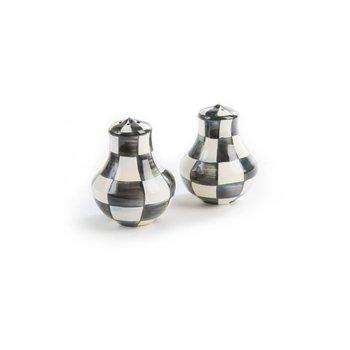 Courtley Check Enamel Salt & Pepper Shakers