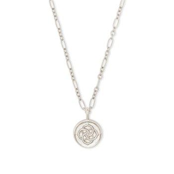 Dira Coin Pendant In Silver