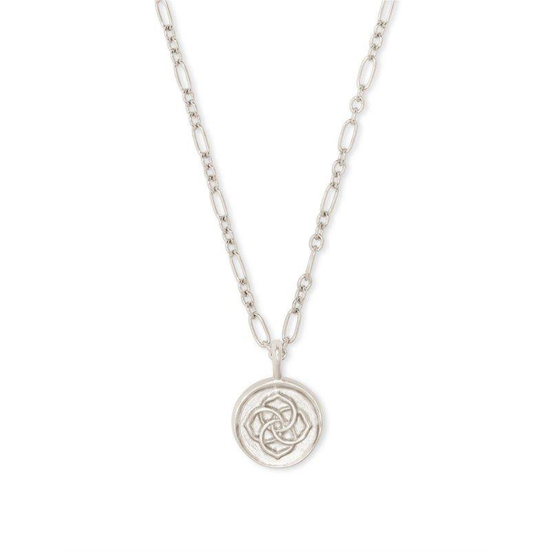 Kendra Scott Dira Coin Pendant In Silver