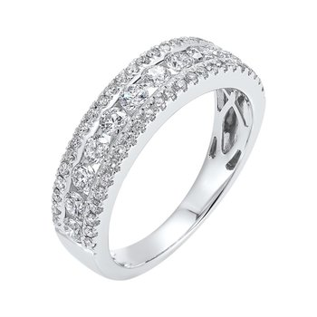 3-Row Diamond Band