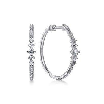 Diamond Classic Hoop Earrings