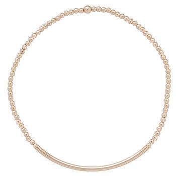 Classic Gold Bead Bracelet - Bliss Bar