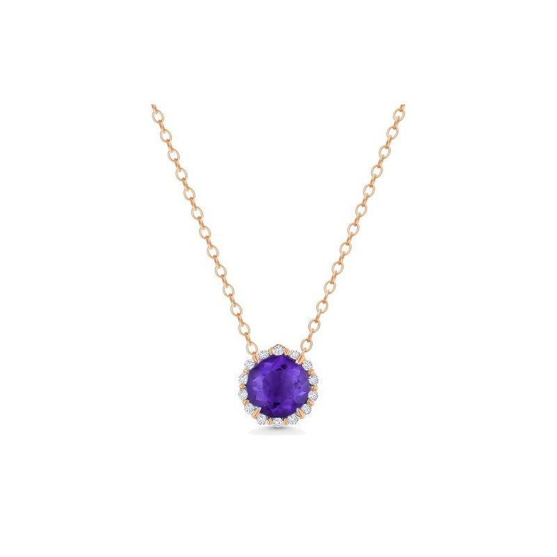 Kelley Collection  Amethyst & Diamond Pendant