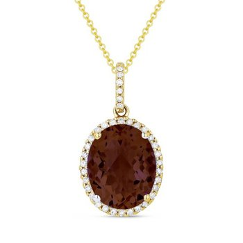 Garnet & Diamond Pendant