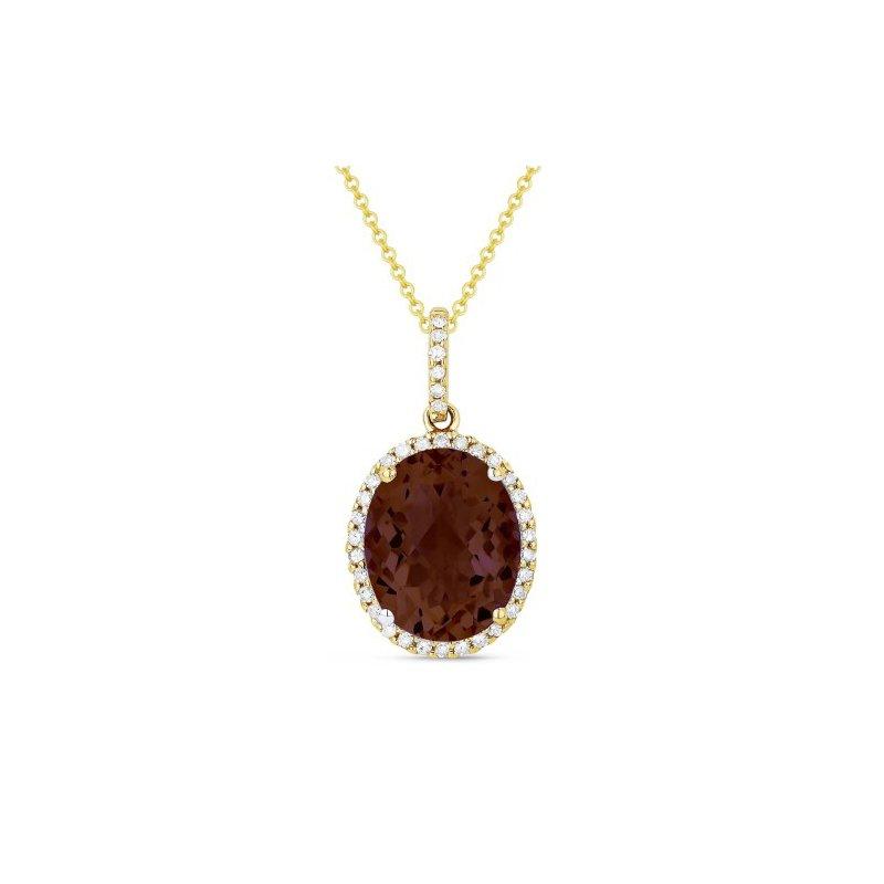 Kelley Collection  Garnet & Diamond Pendant