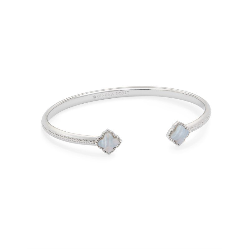Kendra Scott Mallory Cuff in Gray Banded Agate
