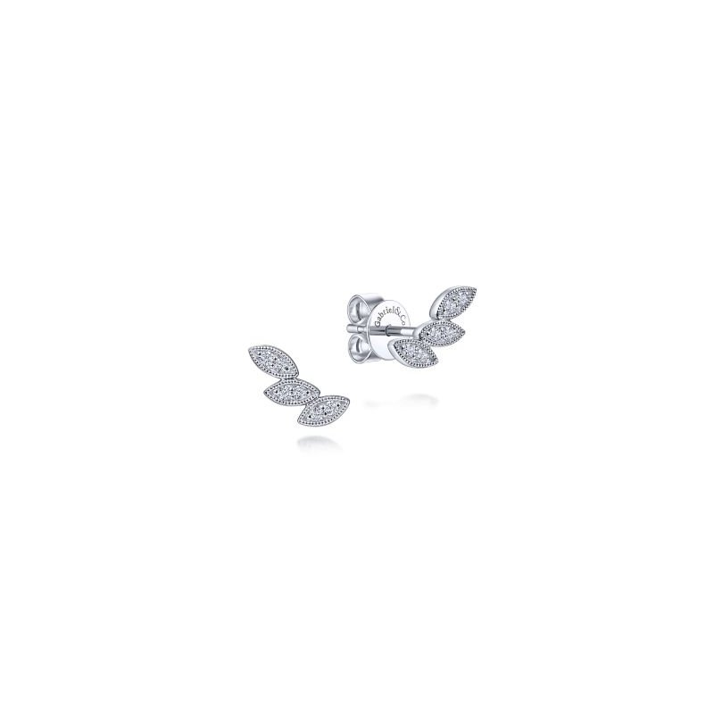 Kelley Collection  Triple Marquise Stud Earrings