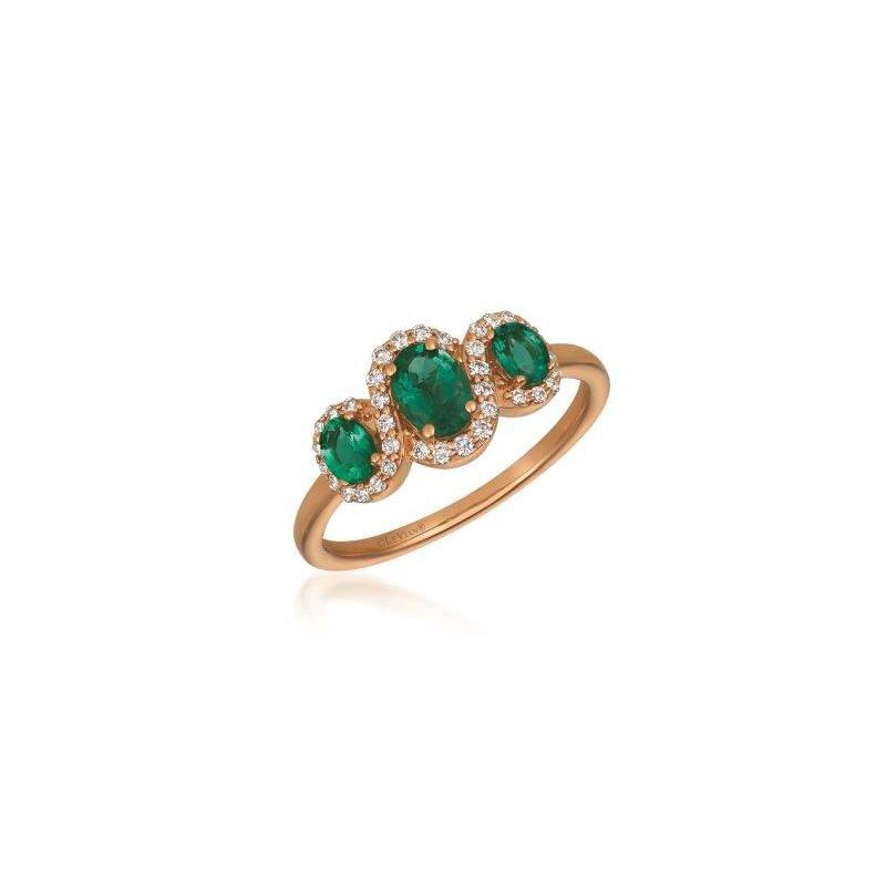 Le Vian 14K Strawberry Gold Costa Semerlda Emerald & Diamond Ring.