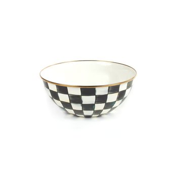 Courtly Check Enamel Everyday Bowl-Large