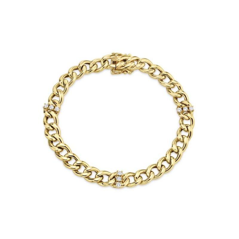 Kelley Collection  Diamond Chain Link Bracelet