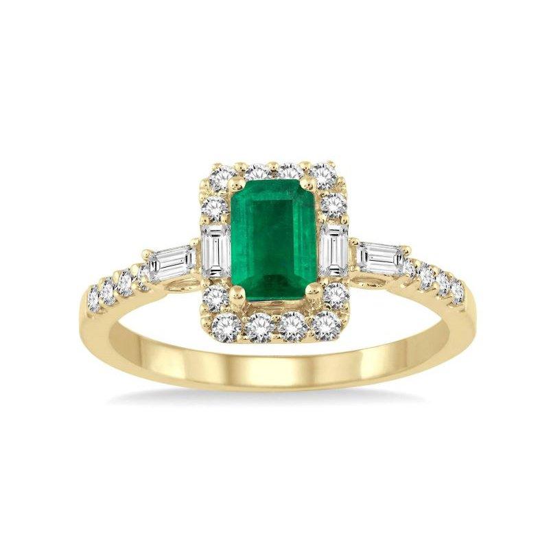 Kelley Collection  Emerald & Diamond Ring