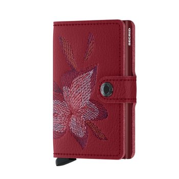 Miniwallet in Stitched Magnolia Rosso