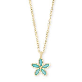 Kyla Flower in Teal Mother of Pearl