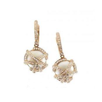 Mother-of-Pearl & Diamond Earrings