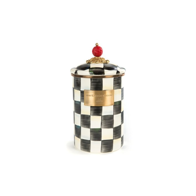 MacKenzie-Childs Courtly Check Canister - Large