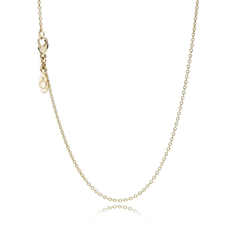 PANDORA Classic Anchor Chain 14K Gold Necklace