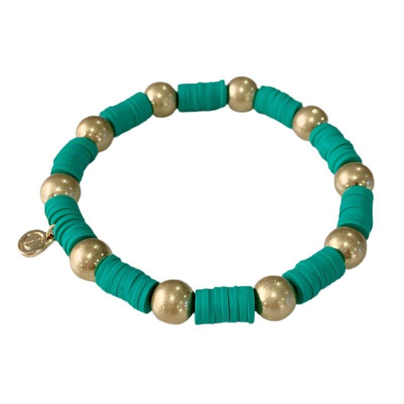 Caryn Lawn Seaside Gold Ball - Turquoise Green