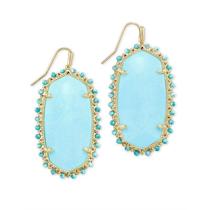 Kendra Scott Beaded Danielle in Light Blue Magnesite