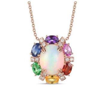 Creme Brulee® Neopolitan Opal™ & Multi-Gemstone Pendant