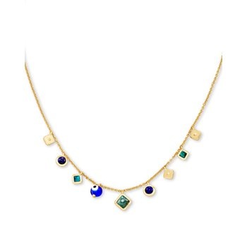 Gemma Strand Necklace in Teal Mix
