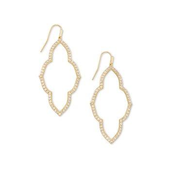 Abbie Open Frame Earring in Gold