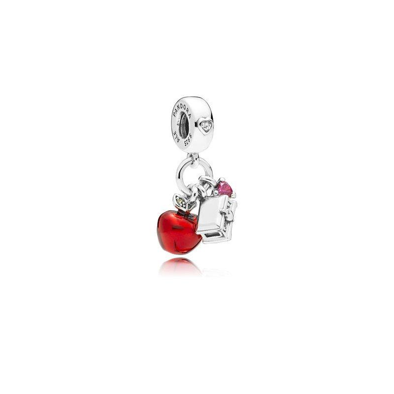 PANDORA Disney Snow White Apple & Heart Dangle Charm