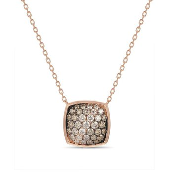 14K Strawberry Gold® Chocolate Ombré Diamond® Pendant