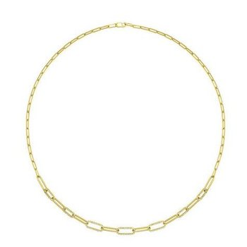 Diamond Paperclip Chain Necklace