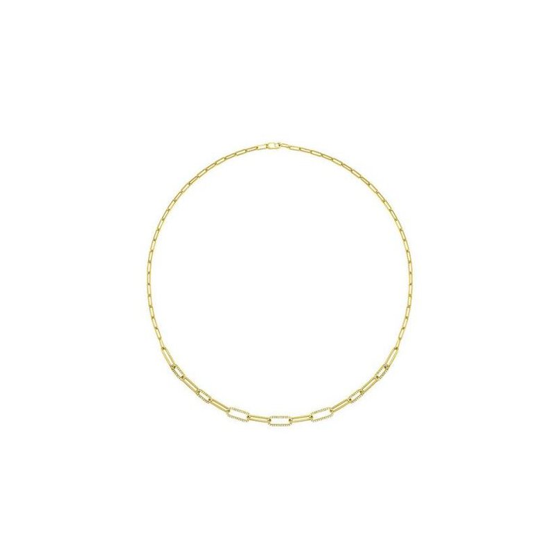 Kelley Collection  Diamond Paperclip Chain Necklace